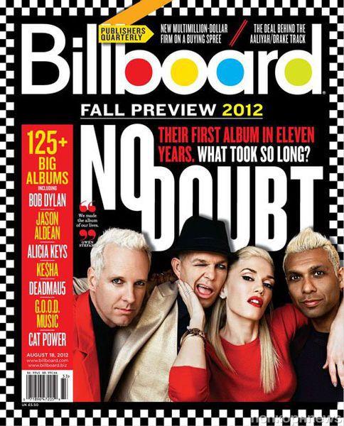 Группа No Doubt в журнале Billboard. Август 2012