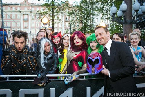 Майкл Фассбендер на премьере фильма «Люди Икс: Дни минувшего будущего» в Москве
