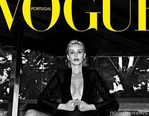 Смело: 61-летняя Шэрон Стоун снялась топлес для откровенной обложки Vogue