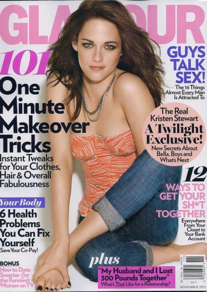Кристен Стюарт в журнале Glamour US. Ноябрь 2011
