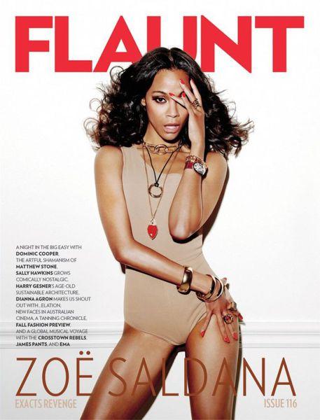 Зои Салдана в журнале Flaunt #116