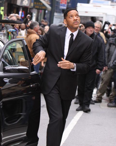 "Уилл Смит на съемках фильма ""Люди в черном 3"""