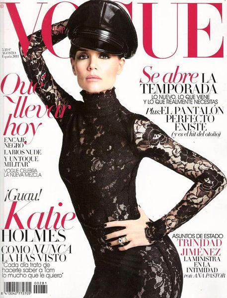 Кэти Холмс в журнале Vogue Испания. Август 2011