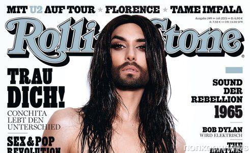 Кончита Вурст снялась топлесс для Rolling Stone