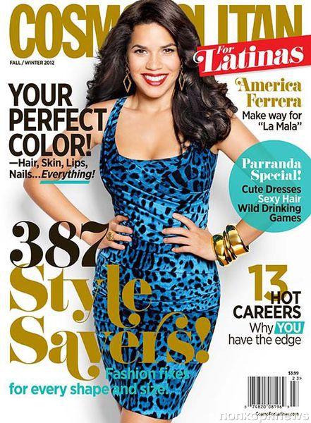 Америка Феррера в журнале Cosmopolitan Latinas. Осень / зима 2012-2013