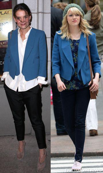 Fashion battle: Кэти Холмс и Эмма Стоун
