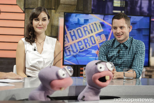 Элайджа Вуд и Саша Грэй на шоу El Hormiguero