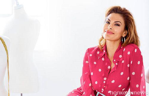 Фото: Ева Мендес в рекламной кампании собственной линии одежды