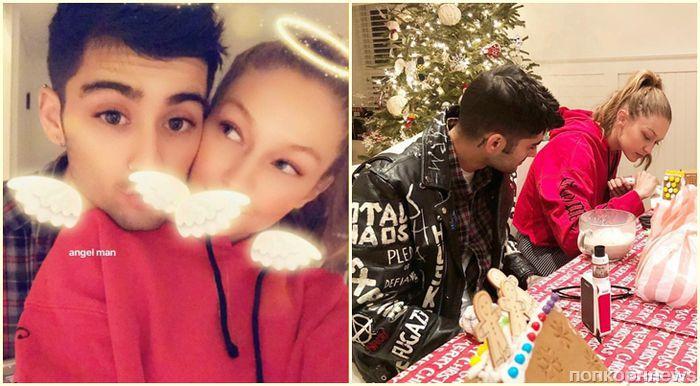Зейн Малик и Джиджи Хадид отпраздновали Рождество в новом общем доме