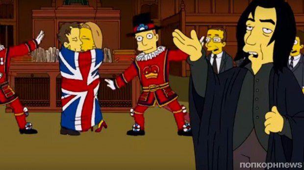 Дэвид Боуи и Алан Рикман вместе появились в мультсериале «Симпсоны» еще три года назад