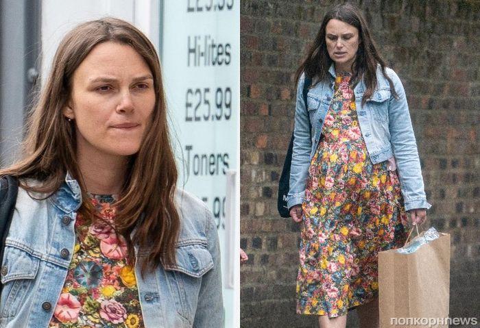 Фото: беременная Кира Найтли на шоппинге в Лондоне