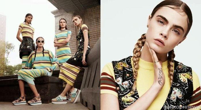 Кара Делевинь снялась в новой рекламной кампании DKNY. Весна 2015