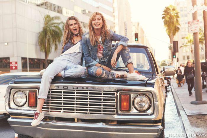 Хейли Болдуин в рекламной кампании джинсовой коллекции Tommy Hilfiger лето 2016