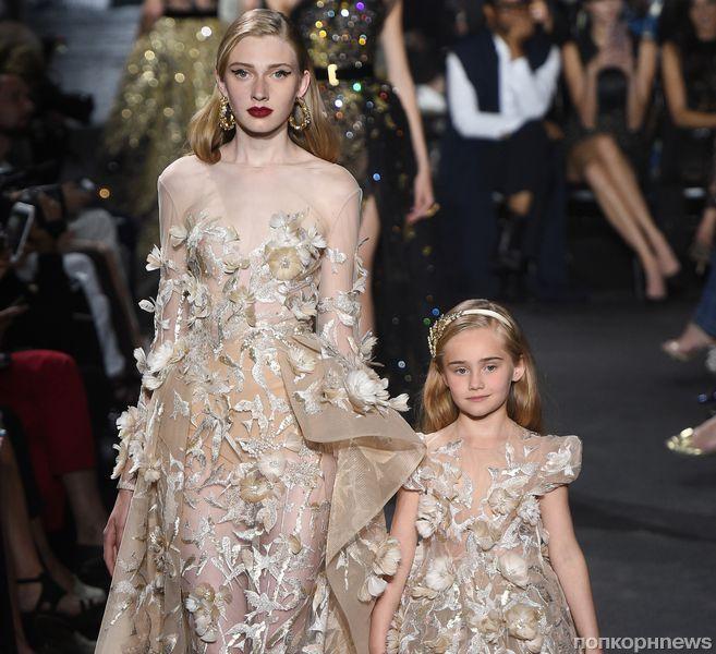 Модный показ новой коллекции Elie Saab Haute Couture, осень / зима 2017