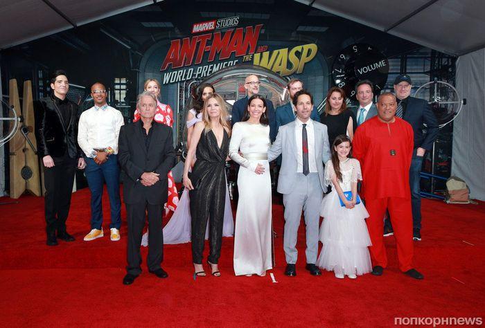 Эванджелин Лилли, Мишель Пфайффер, Пол Радд и другие звезды на премьере «Человек-муравей и Оса» в Лос-Анджелесе