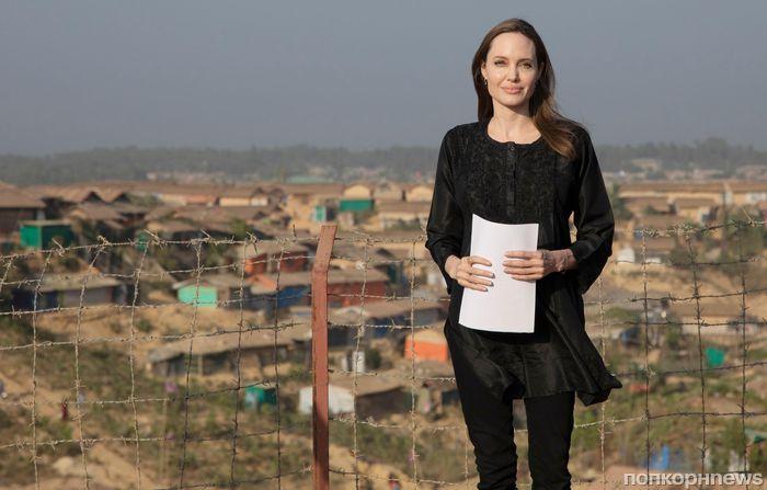 Фото: Анджелина Джоли побывала в лагере беженцев в Бангладеше
