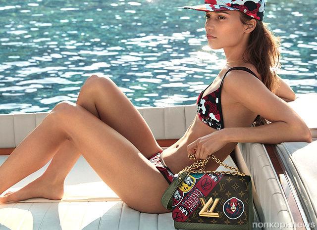Алисия Викандер снялась в новой рекламной кампании Louis Vuitton