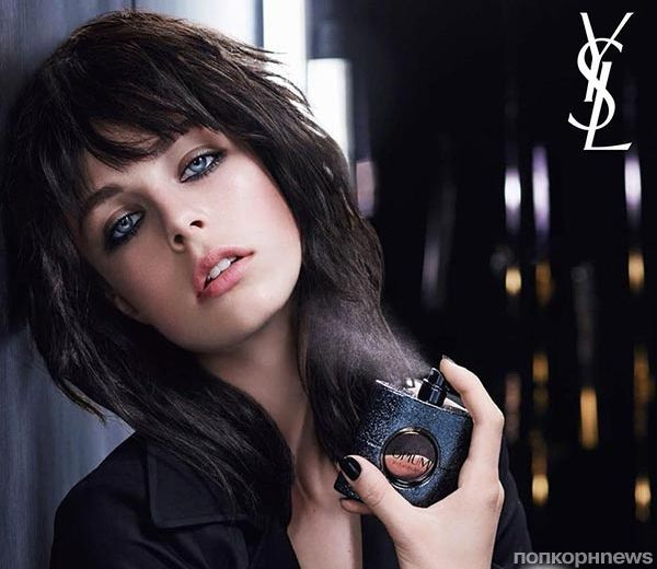 Эди Кэмпбелл в рекламе аромата YSL Black Opium