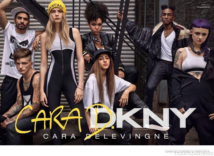 Рекламная кампания Кара Делевинь для DKNY