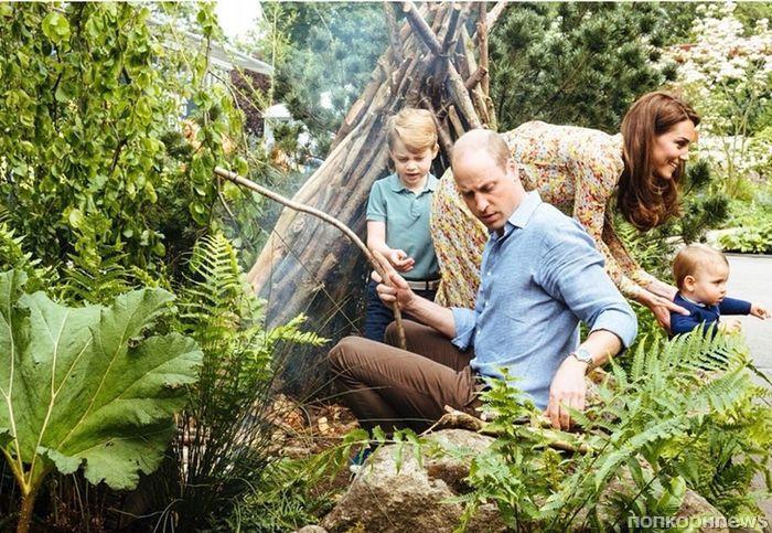 Принц Уильям и Кейт Миддлтон поделились новыми семейными фото с детьми