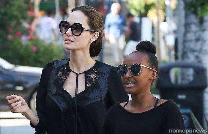 Анджелина Джоли продемонстрировала нежный образ на прогулке с детьми в Лос-Анджелесе