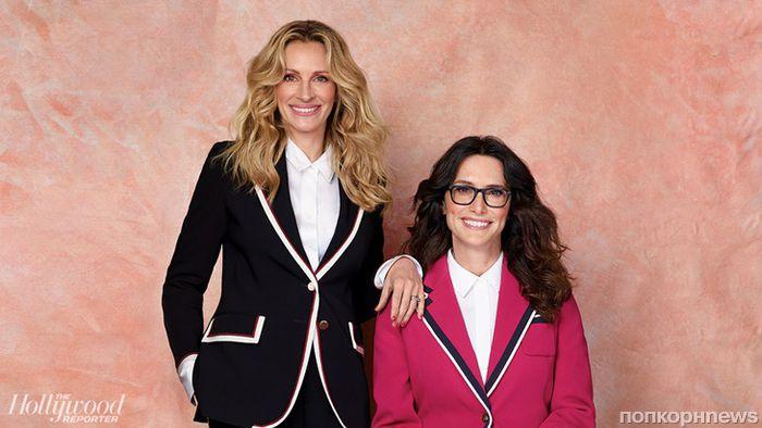 Джулия Робертс, Эмили Блант и другие звёзды позируют со своими стилистами в фотосете для THR