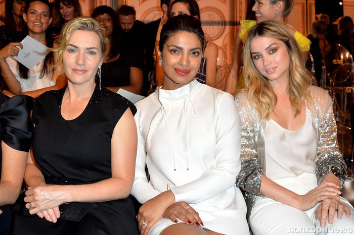 Приянка Чопра, Кейт Уинслет и Наоми Уоттс на показе Armani в Париже