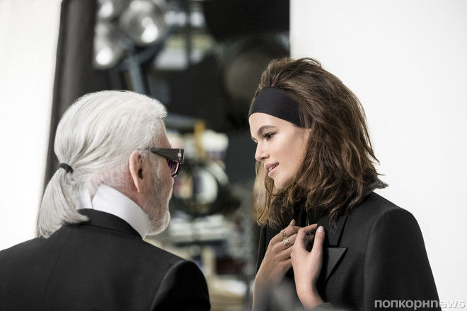 Фото: Кайя Гербер в новой рекламной кампании Karl Lagerfeld