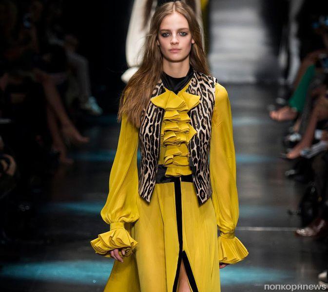 Модный показ новой коллекции Roberto Cavalli. Осень / зима 2015-2016