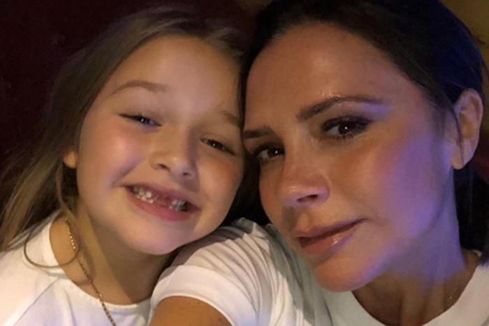 Виктория Бекхэм водит 7-летнюю дочку к косметологу Ким Кардашьян