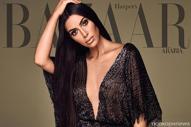 Ким Кардашьян украсила обложку нового Harper's Bazaar