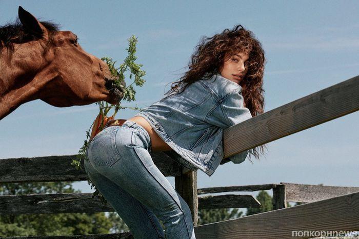 Подруга Леонардо ДиКаприо демонстрирует соблазнительные формы в рекламе Jordache