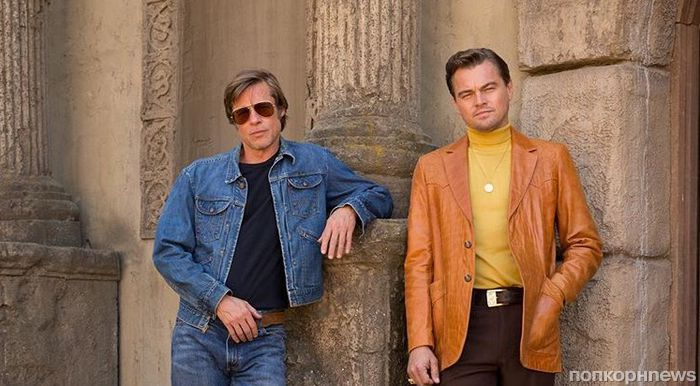 Первое фото: Брэд Питт и Леонардо ДиКаприо в «Однажды в Голливуде» Тарантино
