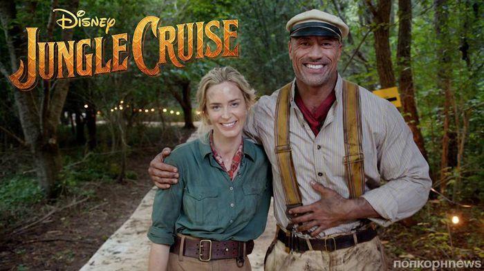Видео: Эмили Блант и Дуэйн Джонсон на съемках «Круиз по джунглям»