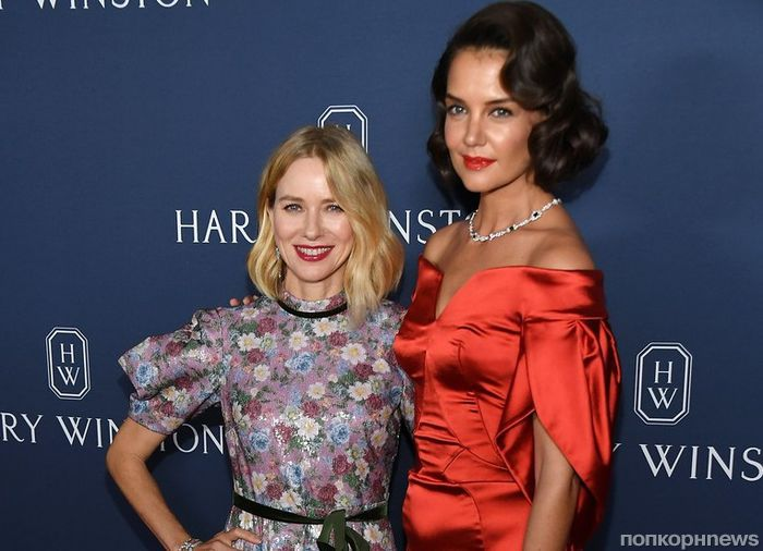 Кэти Холмс, Дженнифер Хадсон и Наоми Уоттс на вечере ювелирного бренда Harry Winston
