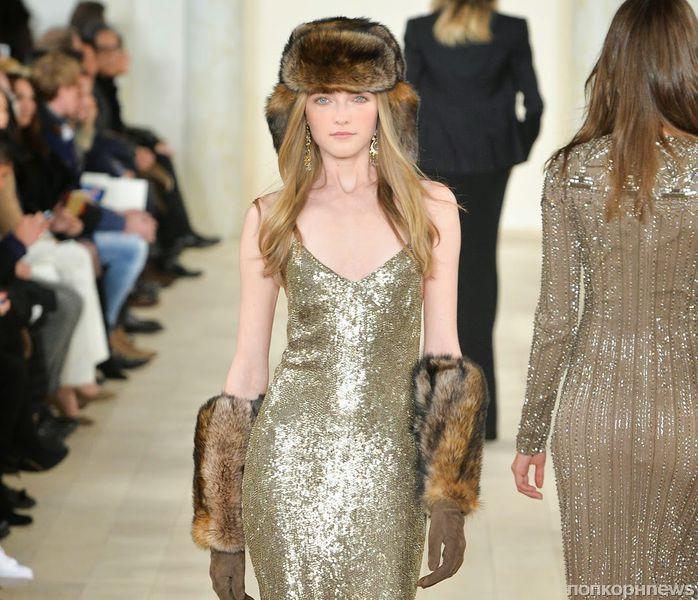 Модный показ новой коллекции Ralph Lauren. Осень / зима 2015-2016
