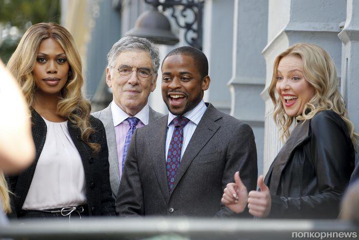 Кэтрин Хейгл на съемках нового телешоу в Нью-Йорке