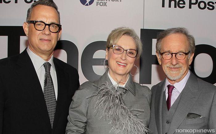 Мерил Стрип и Том Хэнкс привезли «Секретное досье» на красную дорожку премьеры в Вашингтоне