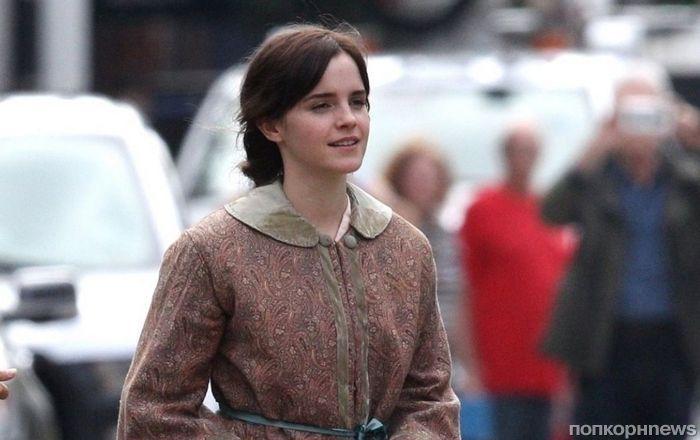 Первые фото: звезда «Гарри Поттера» Эмма Уотсон на съемках «Маленьких женщин»