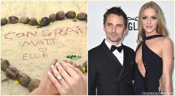 Солист Muse Мэттью Беллами и его девушка объявили о помолвке