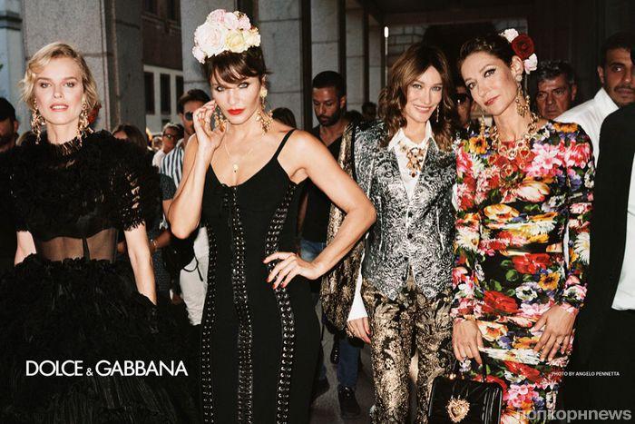 Звезды в сборе  Ева Герцигова, Хелена Кристенсен и Моника Беллуччи в новой  рекламе Dolce   Gabbana 72c858753a4