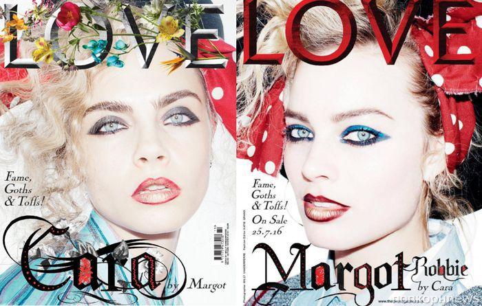 Марго Робби и Кара Делевинь снялись для обложки журнала Love
