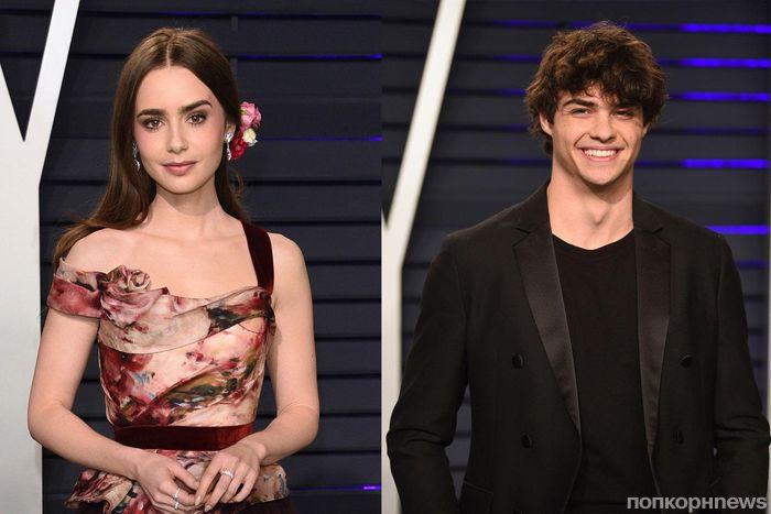 Ной Сентинео и Лили Коллинз подогрели слухи о романе, вместе появившись на афтепати «Оскара»