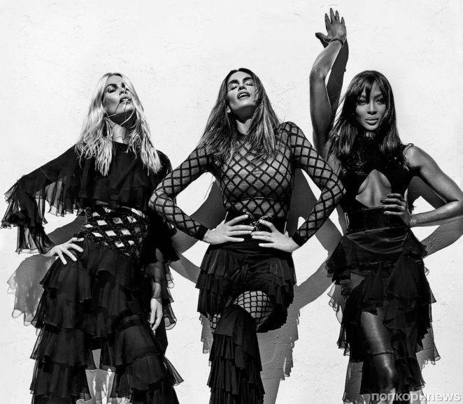 Возвращение легенд: Наоми Кэмпбелл, Синди Кроуфорд и Клаудия Шиффер снялись в рекламе Balmain