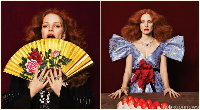 Джессика Честейн в красочной фотосессии для январского Elle Taiwan
