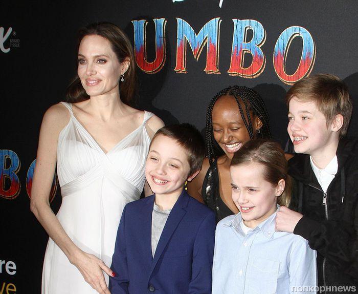 Анджелина Джоли с детьми, Колин Фаррелл, Ева Грин и другие звёзды на премьере фильма «Дамбо» в Лос-Анджелесе