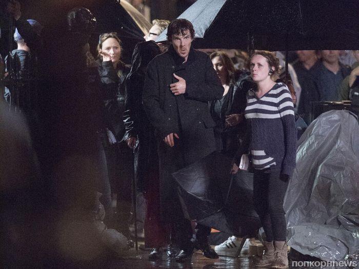 Бенедикт Камбербэтч на съемках нового сезона сериала «Шерлок»