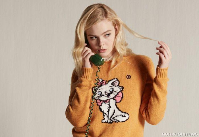 Фото: Эль Фаннинг в рекламе «кошачьей» капсульной коллекции Miu Miu