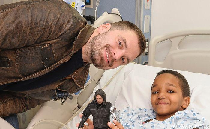 Себастиан Стэн навестил детей-пациентов нью-йоркской больницы