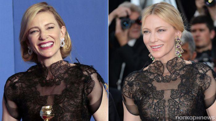 Кейт Бланшетт рассказала, почему вышла на красную дорожку Канн в платье с «Золотого глобуса» 4-летней давности
